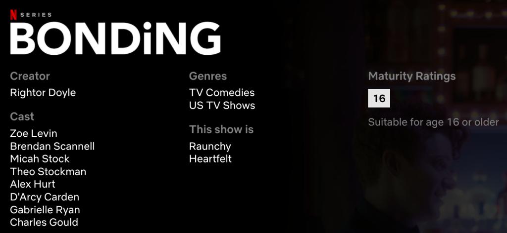 Bonding Netflix Series Details